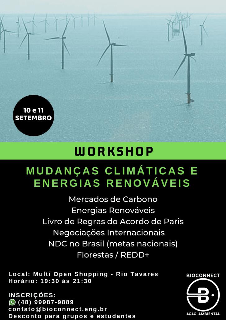 workshop mudanças climáticas