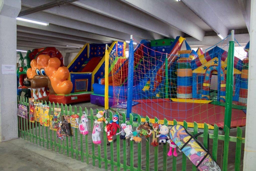 Espaço kids disponível no pavilhão da Feistock